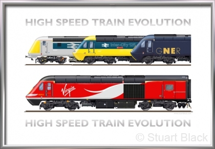 High Speed Train Evolution – Art Print
