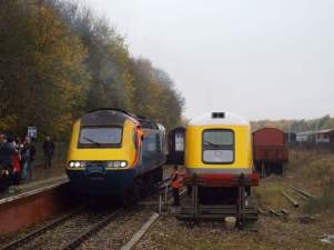 41001 seen alongside 43045 at Ruddington
