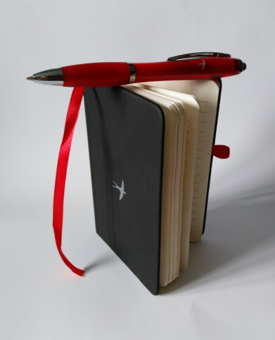 Notebook And Pen Open