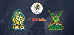 CPLT20 Match Preview: St Lucia Zouks vs Guyana Amazon Warriors