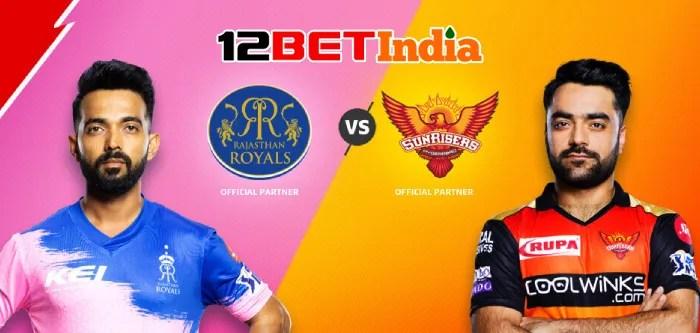 12BET Predictions IPL 2020 Match 40 Rajasthan Royals Vs Sunrisers Hyderabad
