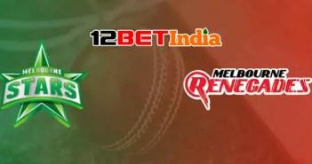 12BET Predictions BBL 2020-21 Match 45 Melbourne Renegades VS Melbourne Stars
