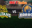12BET Predictions PSL 2021 Multan Sultans vs Karachi Kings