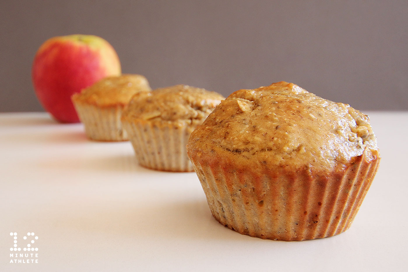 Apple Banana Chia Protein Muffin Recipe