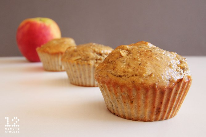 Apple Banana Chia Protein Muffins
