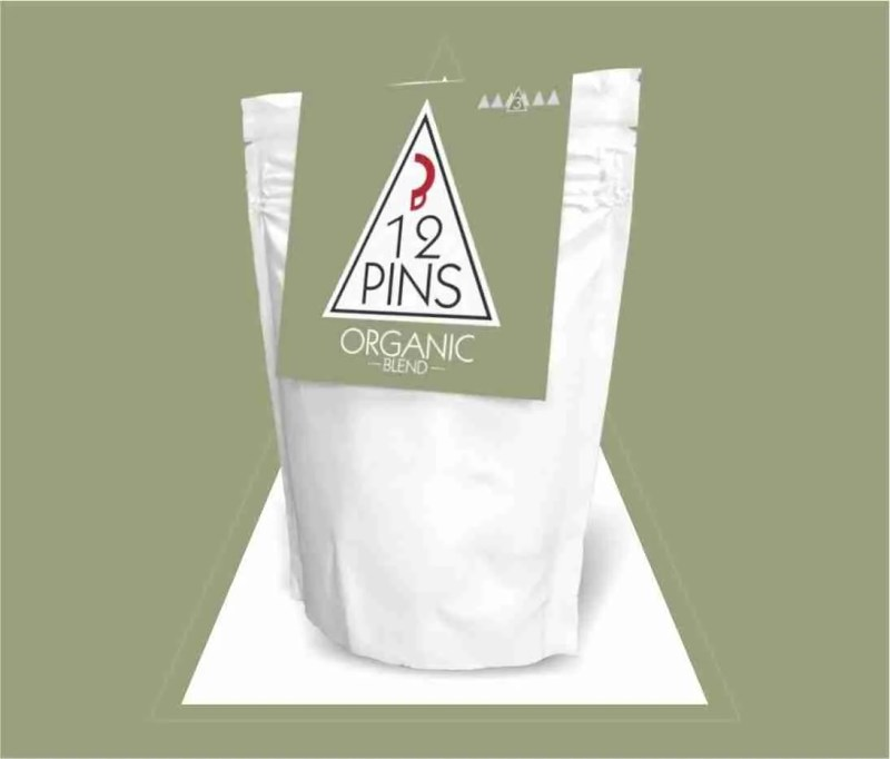 12 Pins organic coffee pouch