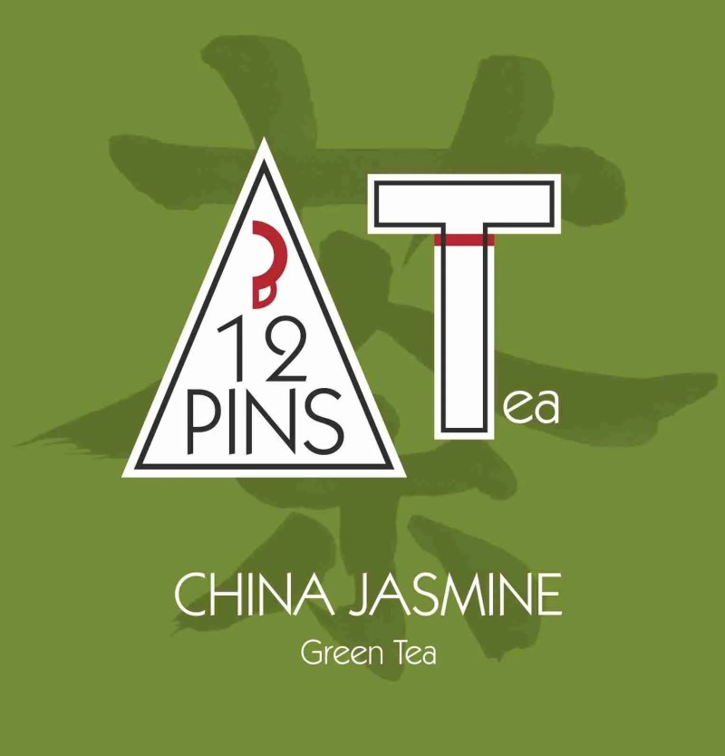 CHINA JASMINE green tea label