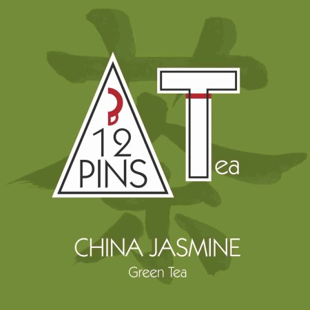 CHINA JASMINE green tea label
