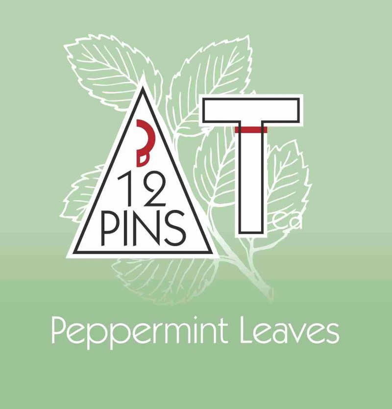 peppermint leaves label