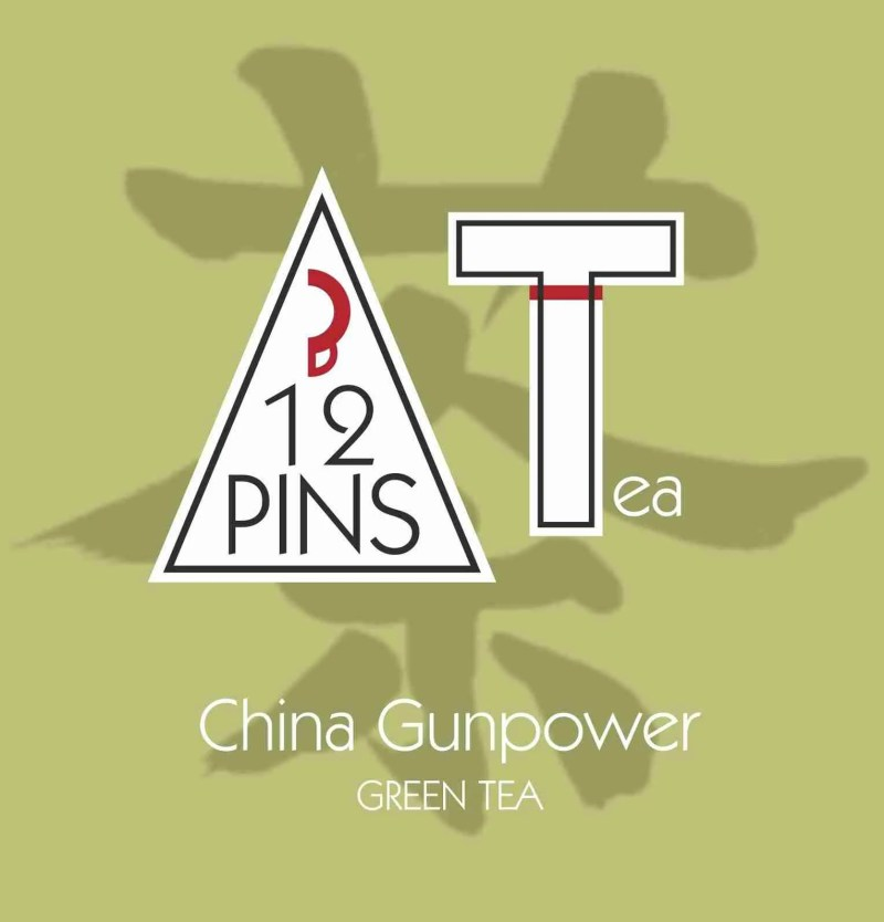 China Gunpower tea label