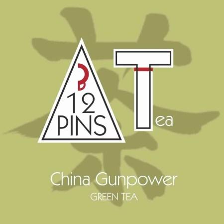 China Gunpower tea label