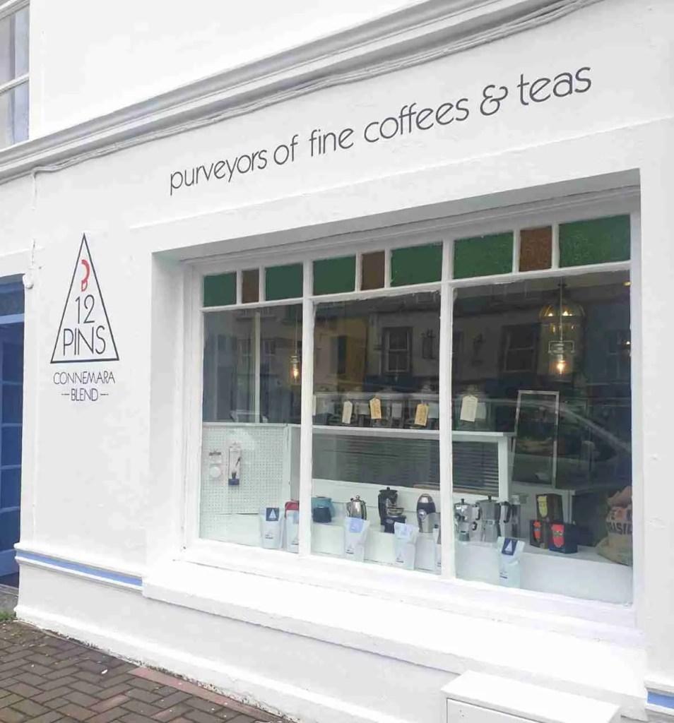 12 Pins Clifden Store exterior showing shop window
