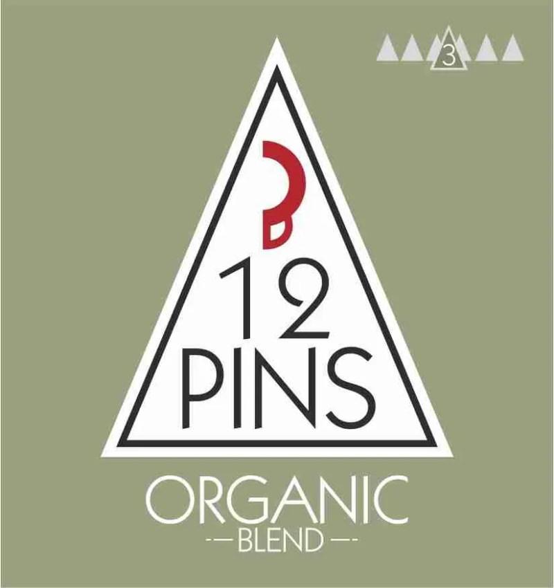12 Pins organic coffee label