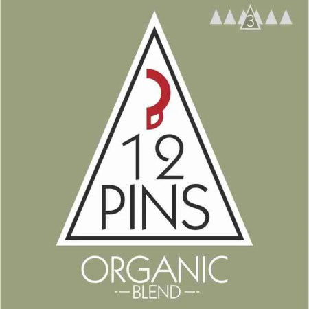 12 Pins organic coffee label