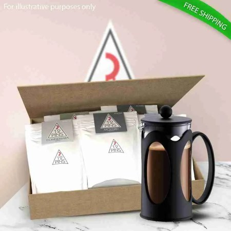 12 Pins coffee variety coffee gift pack and french press coffee maker