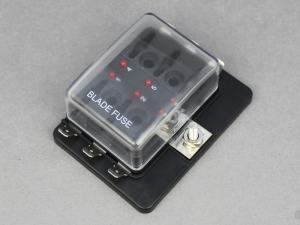 Standard Blade Fuse Box With LEDs  6 Way | 12 Volt Pla