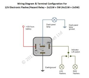Flasher Relay Wiring Diagram  Somurich