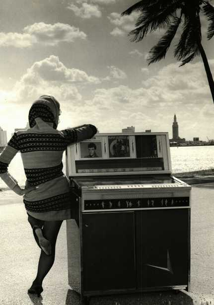 Carole Taran, juke box photo, Biscayne Bay, Miami Freedom Tower.
