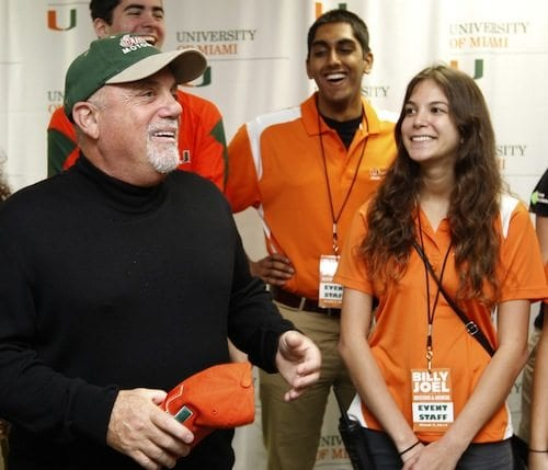 Allison Novack with Billy Joel
