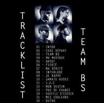 La Fouine : Team BS la pochette et la tracklist de leur album