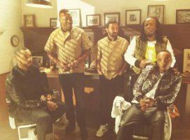 Cyril Hanouna sur le tournage d'un clip avec Youssoupha, Soprano, Disiz et Mokobé