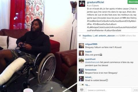 Gradur : après s'être cassé 2 fois la jambe, il se met au Rap et fait des millions de vues