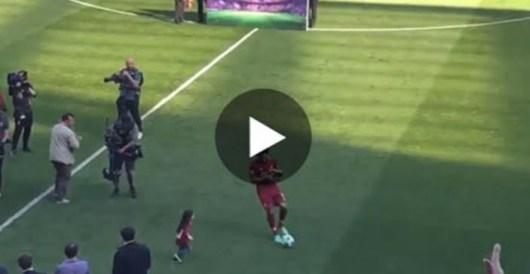 Mohamed Salah : L'attitude de sa fille a ambiancé et fait hurler Anfield !