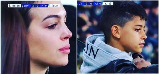 Les larmes de Cristiano Junior et Georgina Rodríguez devant le match monstrueux de CR7