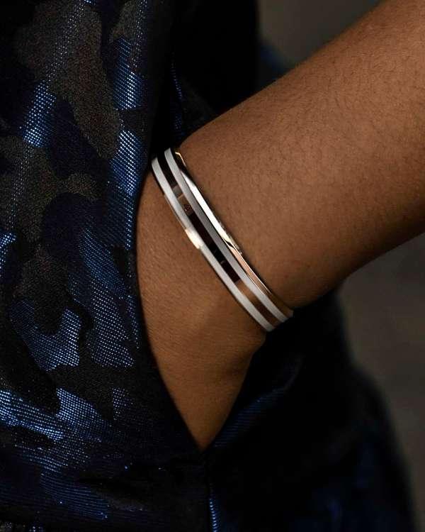 1403 Enamel Cuffs Bracelet