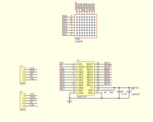 How to wire 8X8 Matrix LED with MAX7219 on Arduino