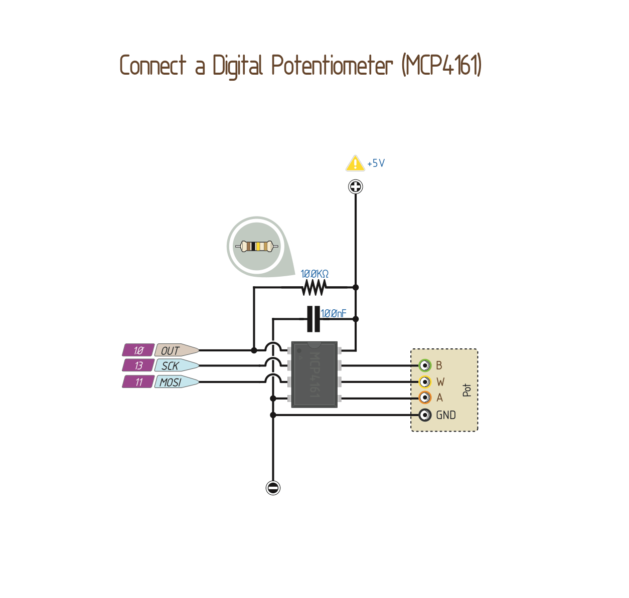Wiring A Digital Potentiometer With Mcp