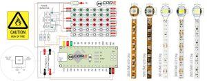 Wiring 3014302028355050 Analog LED Strip with MCU