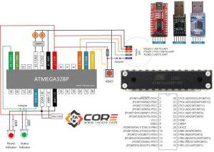 Wiring a Stand Alone ATMEGA328P CMOS 8Bit Microcontroller | 14core
