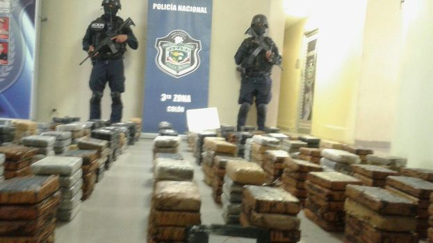 """La cocaína fue decomisada en un operativo denominado """"Caña Brava"""". (Policía Nacional de Panamá)"""