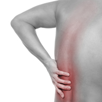 The cause of back pain is muscle spasms putting pressure on the spine and nerves along the entire back.