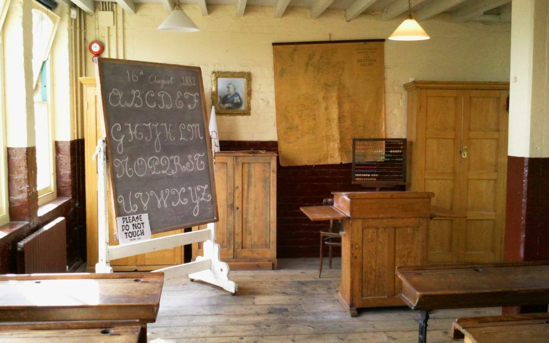 Victorian School Room at 16 Trinity Square during the Victorian Extravaganza