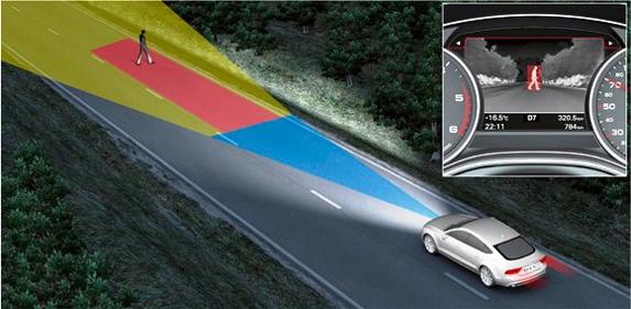 Audi A6 sistema de visión nocturna