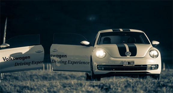 Volkswagen up test driving