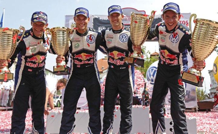 Ogier con el Volkswagen Polo WRC ganó el Rally de Polonia