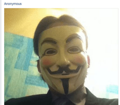 While Anyone Can Join The Anonymous Collective It Has Become A Problem Recently That Certain Individuals On Facebook Are Claiming To Speak For