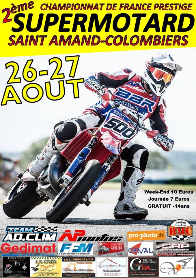 St amand colombiers supermotard 2017