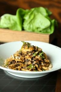 Mushroom lettuce cups, a vegan treat even a carnivore could love.