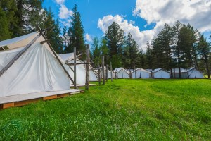 Guests in search of R&R can get massages, facials and other body treatments at Spa Town, a cluster of white canvas tents situated in a secluded field on the resort's grounds.