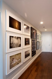 The interior walls provided muchneeded gallery space for Wells's contemporary photography collection.