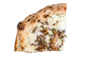 The Gypsy is topped with wild mushrooms.