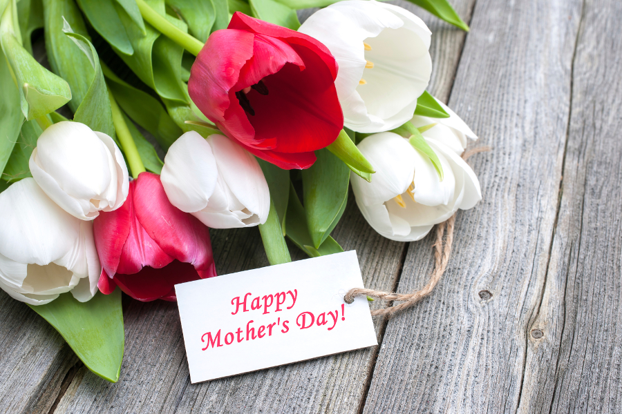 What Flower Type is Your Mom    Petal Talk Tulips with Happy Mother s Day Tag