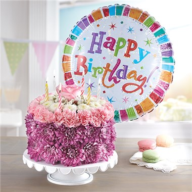 1 800 FLOWERS BIRTHDAY WISHES FLOWER CAKE PASTEL 1 800 Flowers Carle Place