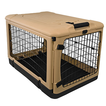 The Super Dog Crate - Plastic Folding Dog Crate - 1800PetMeds