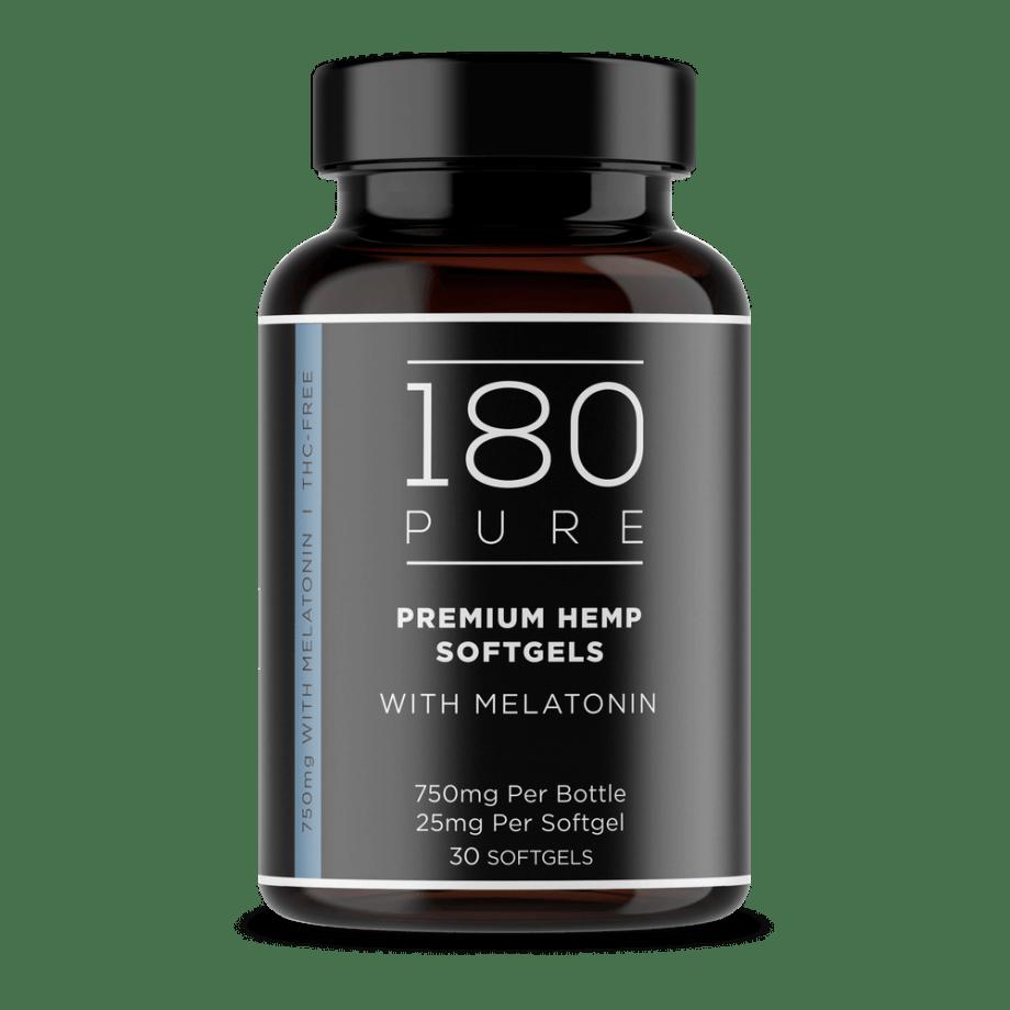 180 Pure Softgels Melatonin 25mg CBD