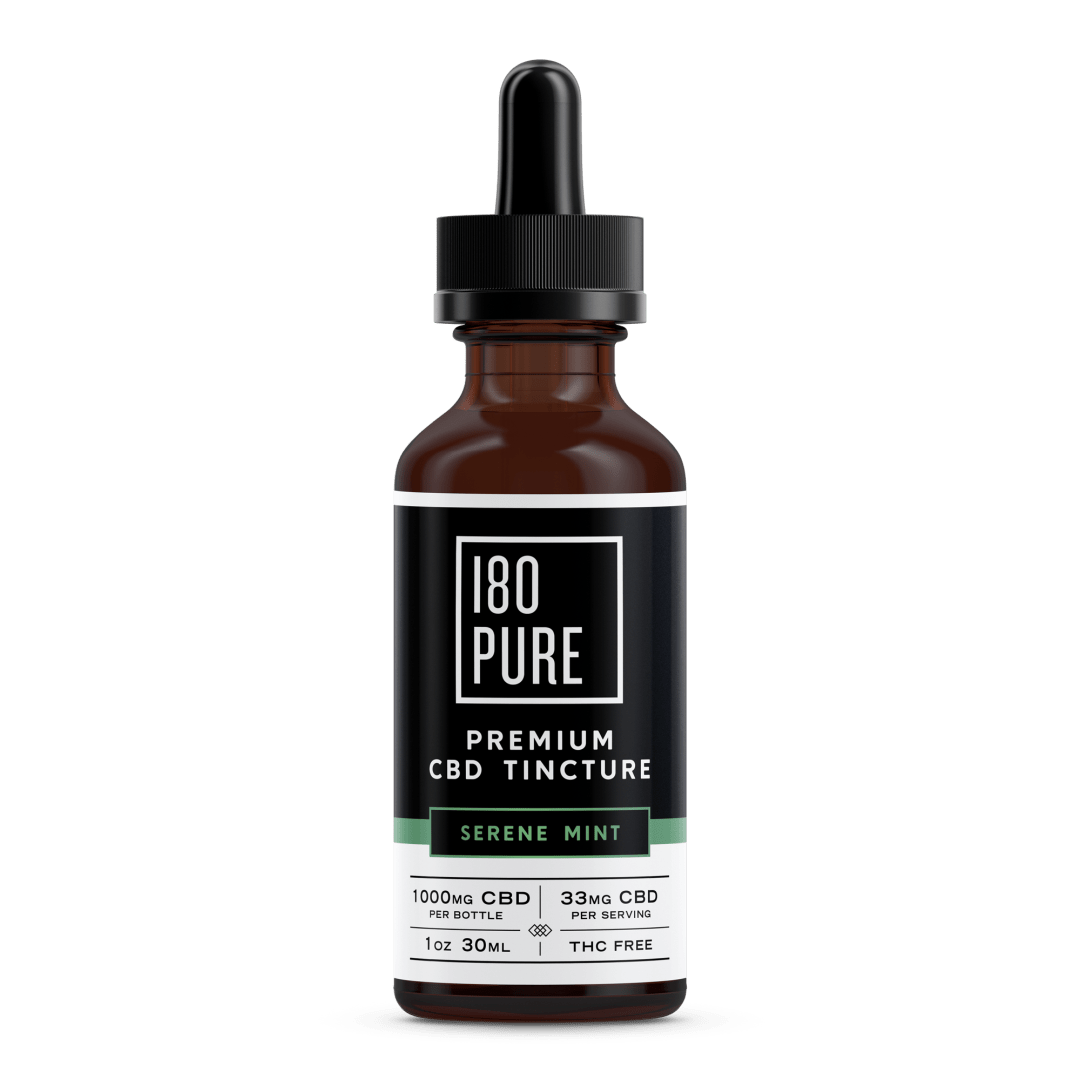 180Pure_Rendering_Tincture_Product_SereneMint_1000mg in Meadow Green